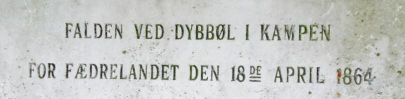 gravsten Dybbøl 1864