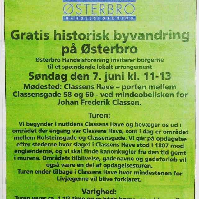 Annonce fra Østerbro Avis