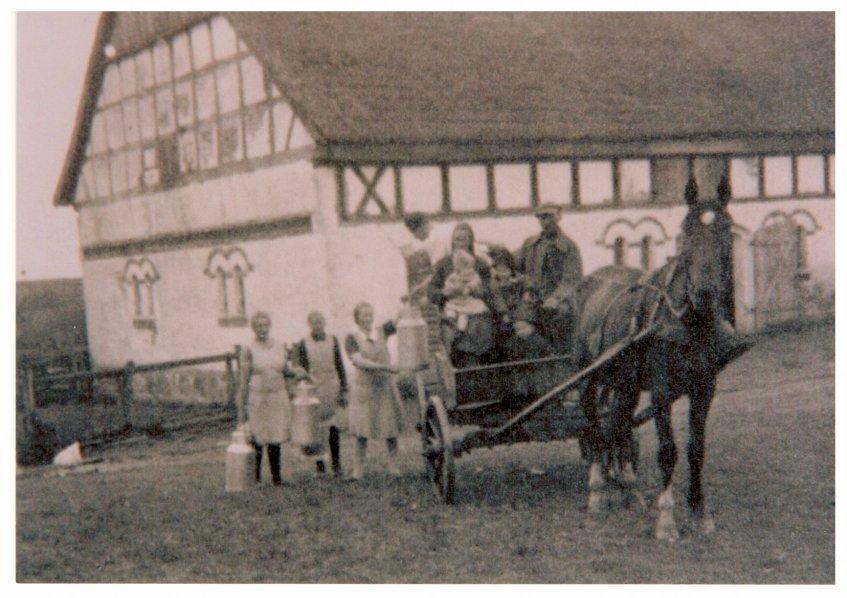 1928 Milchwagen in Lüdtkenfürst