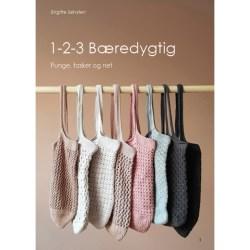 Bogen 1-2-3 Bæredygtig med opskrifter på hæklede og strikkede net, tasker og punge