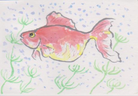 金魚の絵1