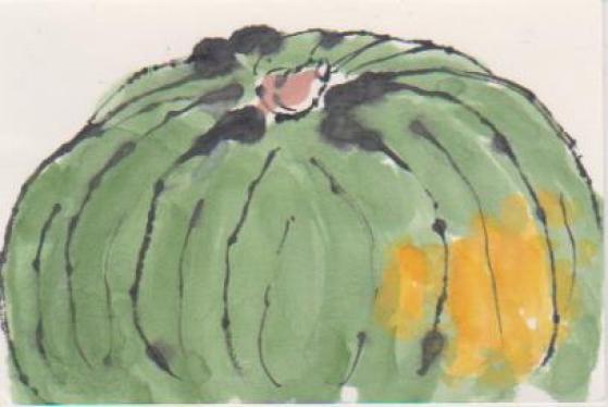 かぼちゃの絵手紙2