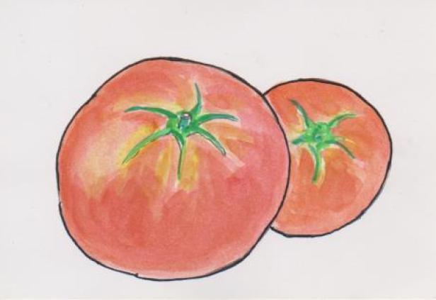 トマトの絵ー4