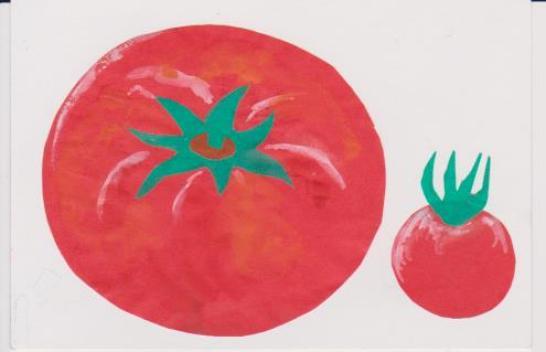 トマトの貼り絵ー14