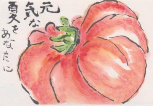 トマトの絵ー10
