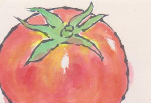 トマトの絵ー15