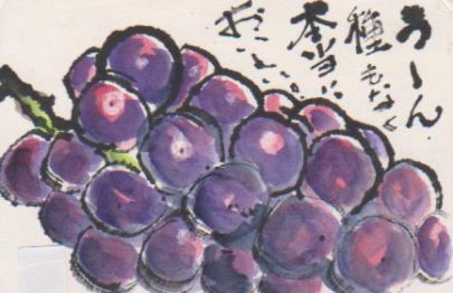 ブドウの絵ー8