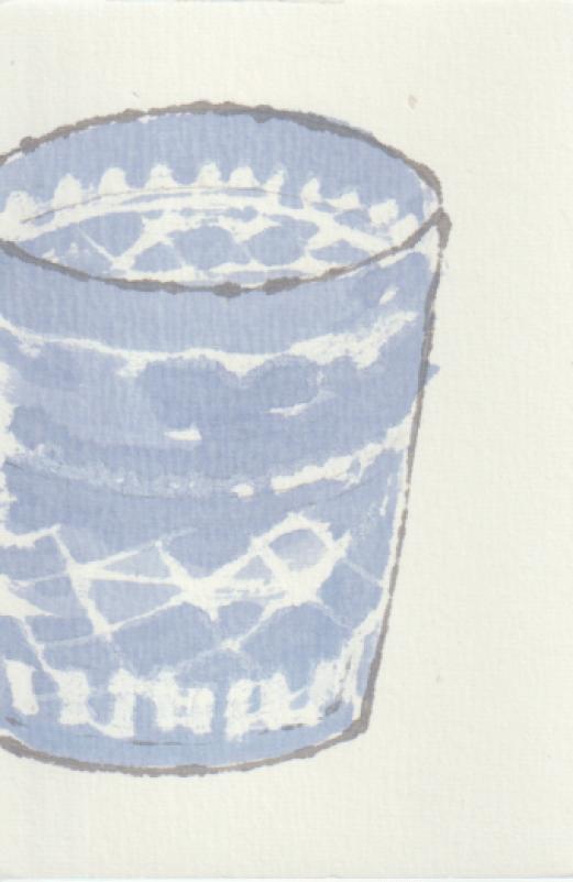 ガラス容器の絵手紙-1