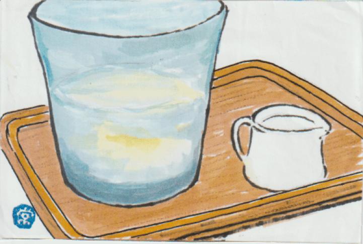 ガラス容器の絵手紙-4