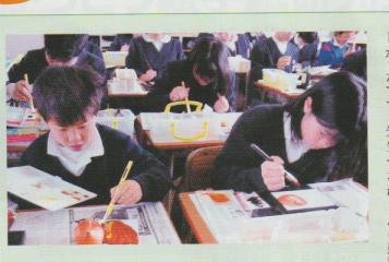 小学生の絵手紙教室