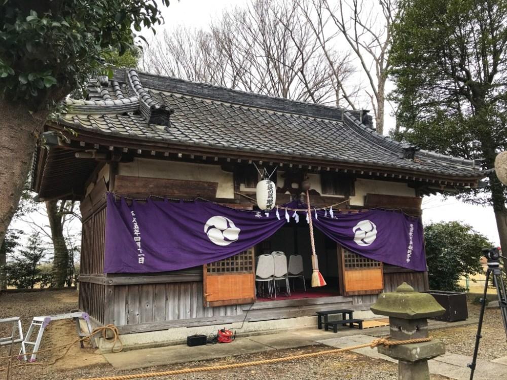 下老袋氷川神社の弓取式と甘酒祭