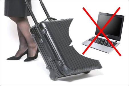 スーツケース キャリーバッグ キャリーケース キャリーバック キャリーカバン ノートパソコン ノートPC 入れる 収納 危険 ダメ 説明 文章 記事 写真 画像