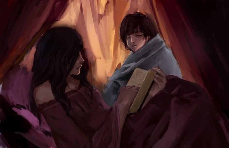 Alayne Piedra o Sansa Stark leyendo a Robert Arryn