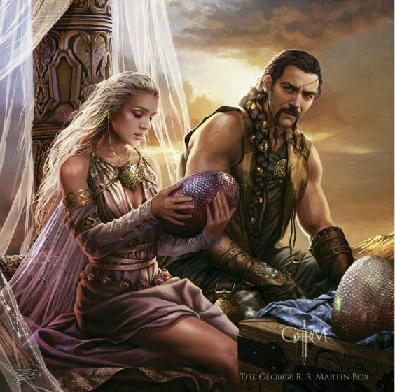 Daenerys Targaryen y Khal Drogo en el día de su boda