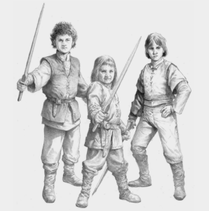 Los hijos de Rhaenyra Targaryen: Jacaerys Velaryon, Joffrey Velarion y Lucerys Velarion