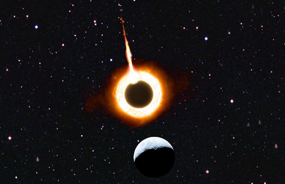 Eclipse y destrucción de la segunda luna de Planetos