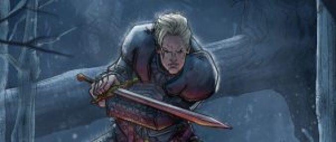 Ilustración de Brienne de Tarth en batalla