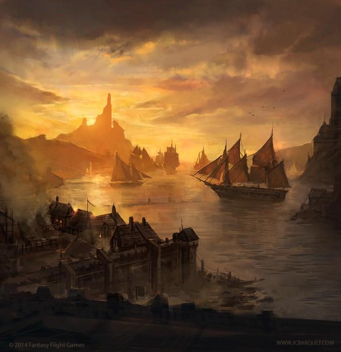 Lannisport, cerca de Roca Casterly