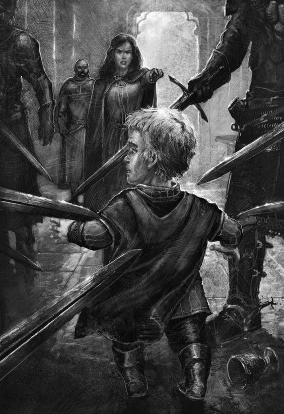 Catelyn Stark apresa a Tyrion Lannister