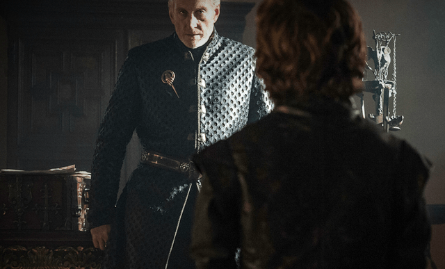 Tywin y Tyrion Lannister en Juego de Tronos