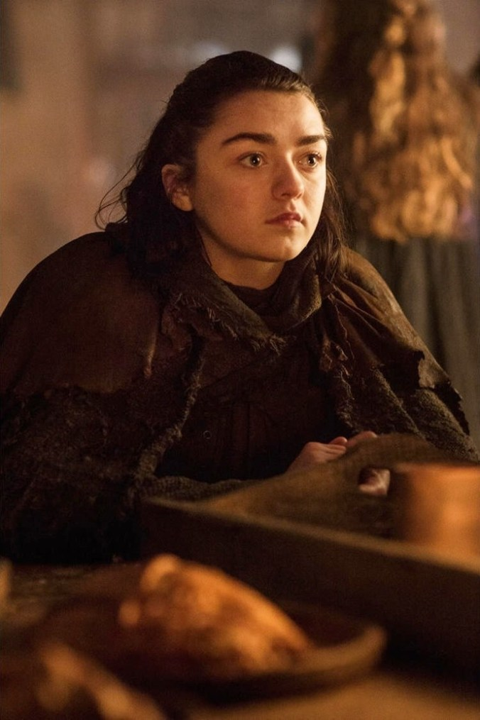 Maisie Williams como Arya Stark en la séptima temporada de Game of Thrones
