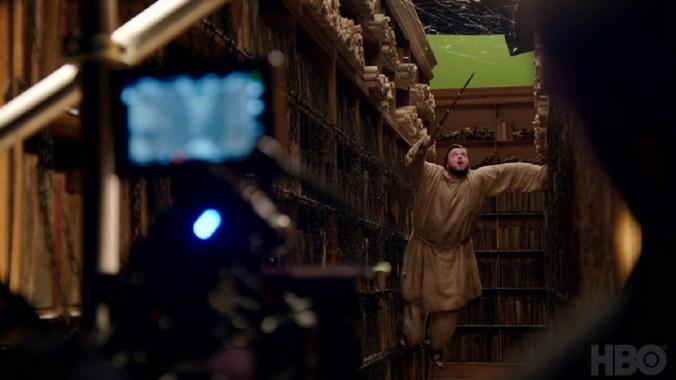 Sam Tarly en la biblioteca de la Ciudadela en la séptima temporada de Juego de Tronos