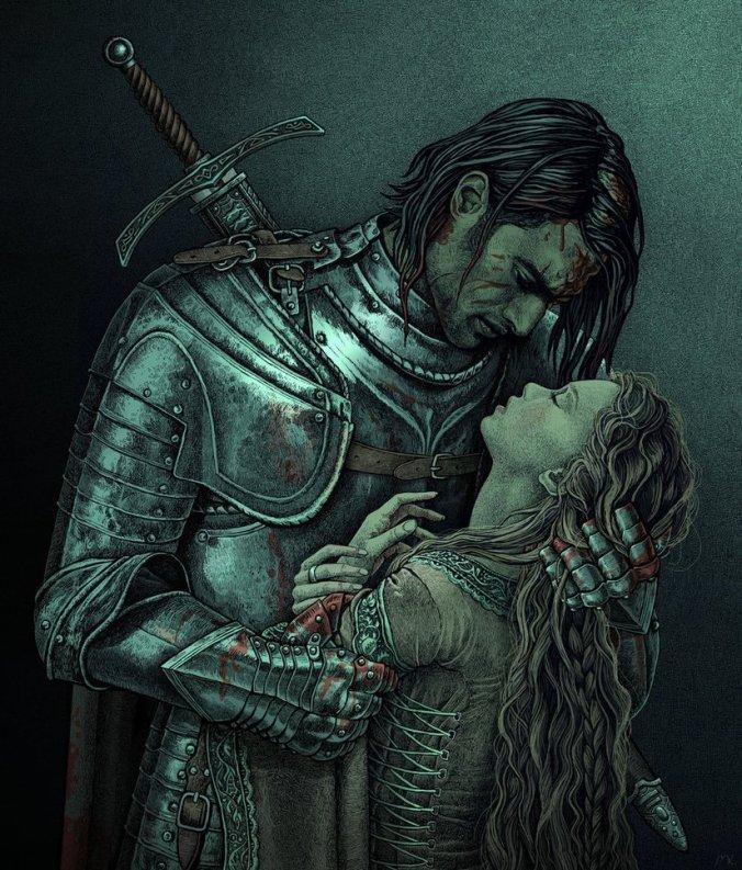 Nobeso de Sandor Clegane el Perro y Sansa Stark en Sansa VII la Batalla del Aguasnegras