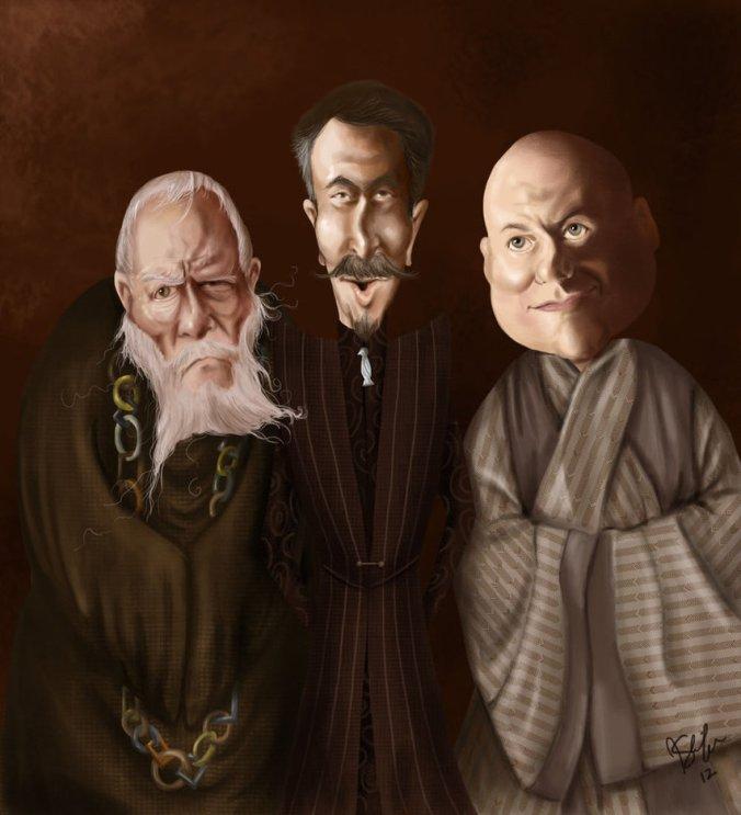 Gran Maestre Pycelle, Petyr Baelish y Varys