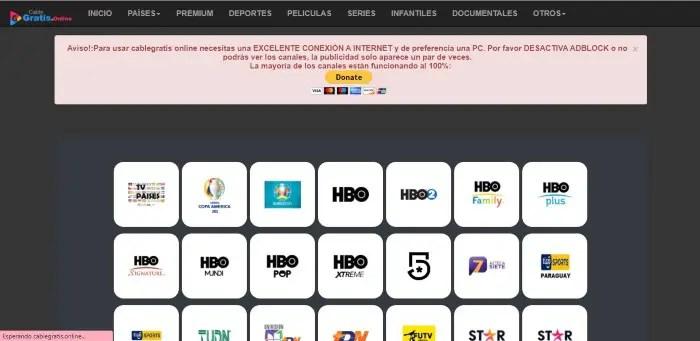 Cable Gratis Online