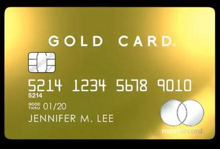24金コーティングの券面デザイン