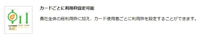 例:三井住友コーポレートカード