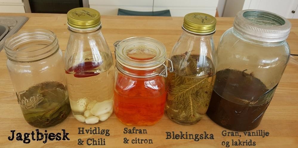 Hjemmelavede kryddersnapse