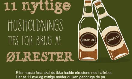11 nyttige husholdningstips for brug af ølrester