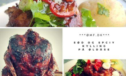 Sød og spicy kylling på dåse