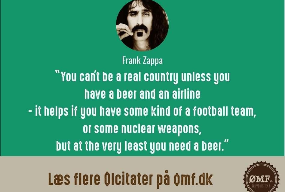 Ølcitat fra Frank Zappa