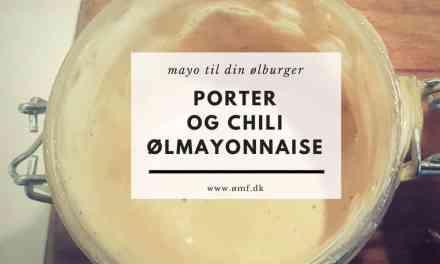 Porter og chili Ølmayonnaise