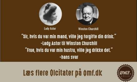 Ølcitat fra Lady Astor og Winston Churchill