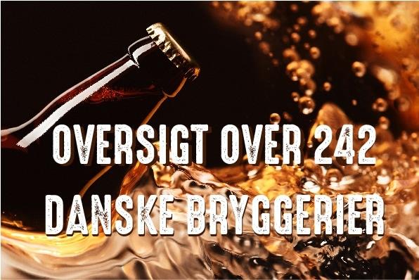 242 Bryggerier i Danmark Per 1. SEPt 2020