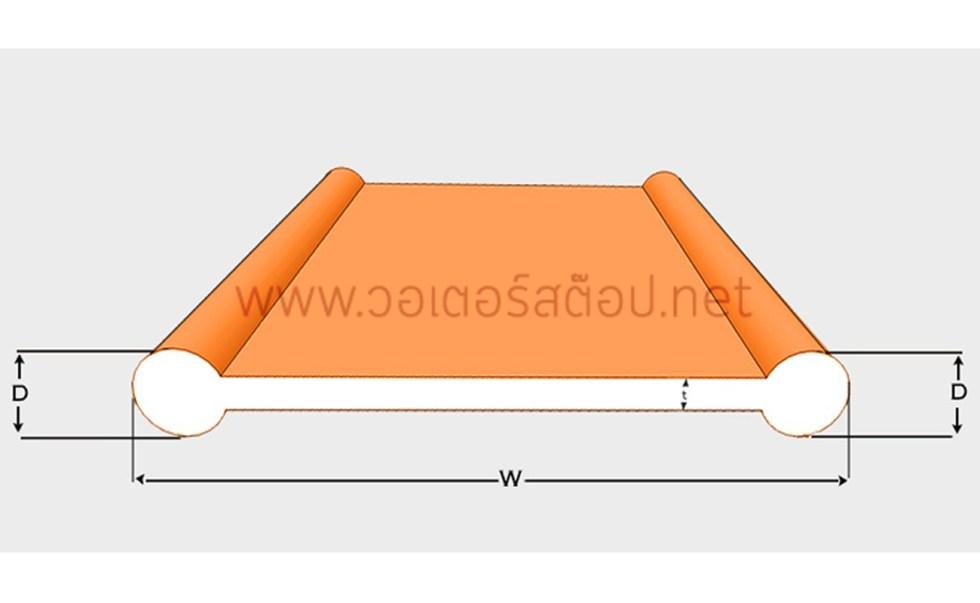 PVC วอเตอร์สต๊อป B6a 6 นิ้ว 2 ปุ่ม หนา 5 มม.