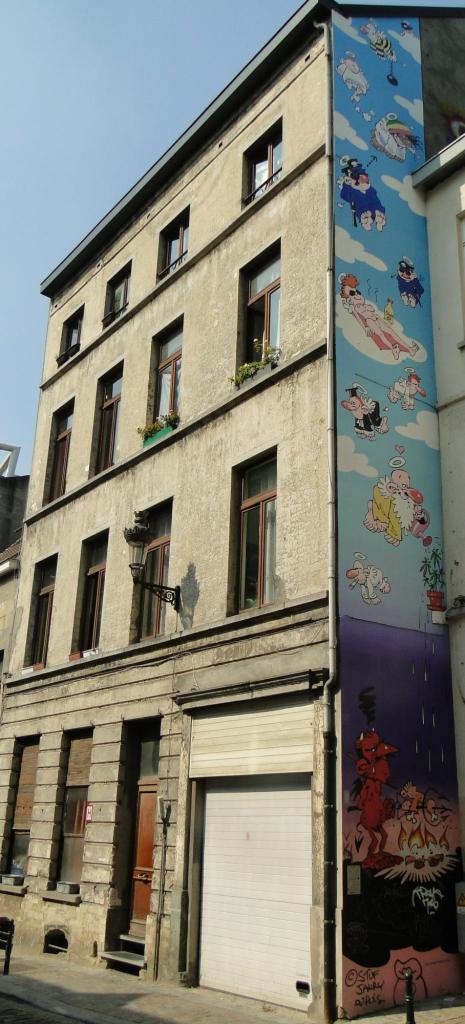 Szlak komiksowych murali w Brukseli