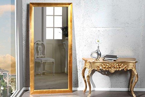 DuNord Design Wandspiegel Standspiegel PURE gold 180cm Design Accessoire Spiegel