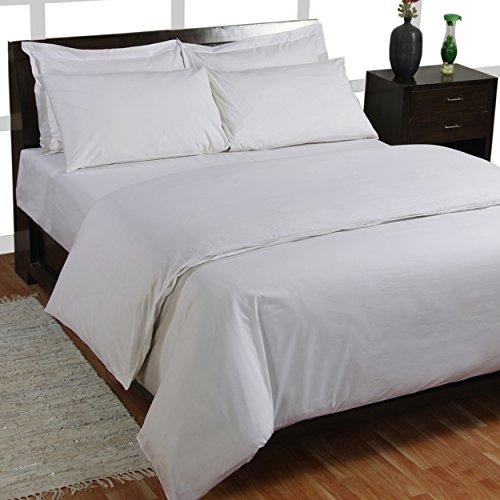 Homescapes 3 tlg Bettwäsche 200 x 200 cm weiß aus 100% reiner ägyptischer Baumwolle Fadendichte 200