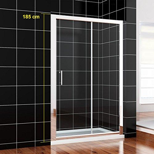 Neueröffnung 1200mm Nische Einzel Schiebetür Dusche Duschabtrennung Glas links/rechts