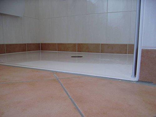 Mineralguss Duschwanne bis 180x100 - begehbare Dusche bodengleiche Duschkabine auf Maß gefertigt