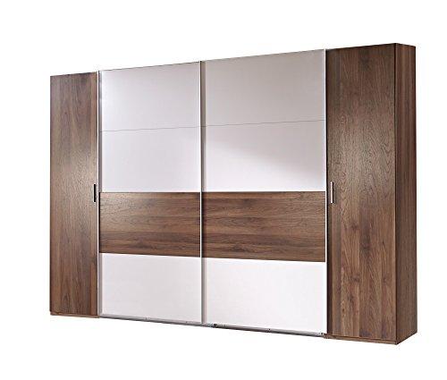 Wimex K02788 Dreh- Schwebetürenschrank, Holz, columbia nussbaum nachbildung / absätze prosecco farbig, 65 x 270 x 208 cm