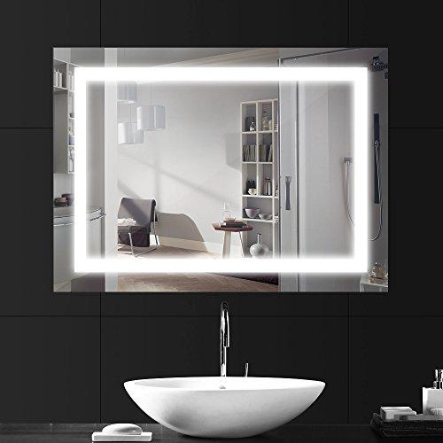 LEBRIGHT LED Badezimmerspiegel Lichtspiegel 18W 80*60cm Badspiegel mit Beleuchtung, LED Spiegelleuchte 4000K Neutralweiß IP65 230V Wasserdicht Korrosion Feuchtraumleuchte Badezimmerspiegel Wandspiegel mit Beleuchtung Toiletten Make Up Spiegel Schminkspiegel