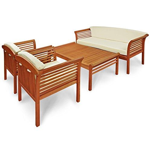 "Indoba Gartenmöbel Set, 4-teilig ""Samoa"" - Gartenset - Serie Samoa, braun, 122 x 70 x 43 cm, IND-70110-SASE4"