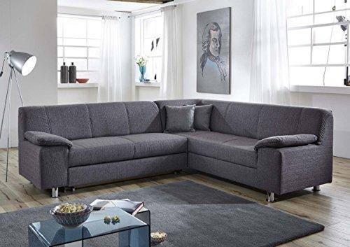 Dreams4Home Polstersofa 'Nightlife', Sofa, Wohnzimmer, grau, Couch, Schlafsofa, Ecksofa