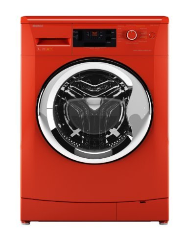 Beko WMB 71443 PTENC Waschmaschine Frontlader / A+++ / 171 kWh/Jahr / 1400 UpM / 7 kg / Orange / Großes Display / Pet Hair Removal