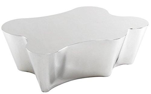 Casa Padrino Luxus Art Deco Designer Couchtisch Edelstahl Poliert - Luxus Kollektion